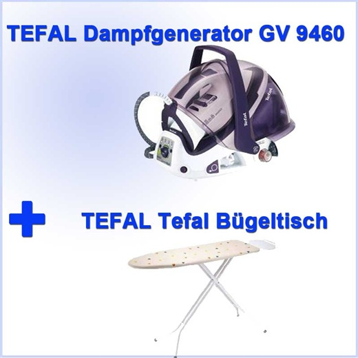 tefal dampfb gelstation gv 9460 tefal b geltisch neu ebay. Black Bedroom Furniture Sets. Home Design Ideas