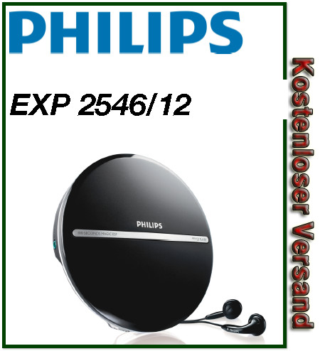 philips exp 2546 12 tragbarer cd player mp3 cd portable cd. Black Bedroom Furniture Sets. Home Design Ideas