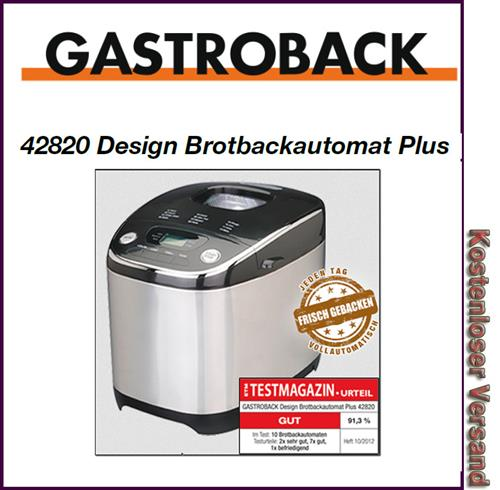 gastroback 42820 backautomat 3 in 1 neuheit nur heute frachtfrei 4016432428202 ebay. Black Bedroom Furniture Sets. Home Design Ideas