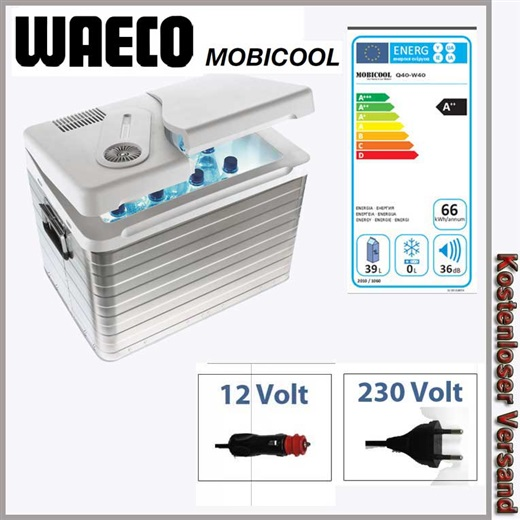 waeco mobicool q 40 ac dc aluminium k hlbox 39 ltr f r 12volt 230 volt eek a. Black Bedroom Furniture Sets. Home Design Ideas