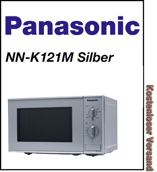 panasonic nn k121m mikrowelle mit grill 20 l garraum 5. Black Bedroom Furniture Sets. Home Design Ideas